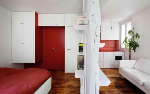 идея красивого стиля студии 20 кв.м картинка