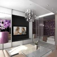 пример необычного интерьера гостиной спальни фото