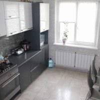 идея яркого стиля кухни 11 кв.м картинка