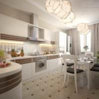 идея красивого интерьера кухни 12 кв.м фото