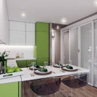 вариант красивого интерьера кухни 13 кв.м картинка