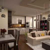 пример светлого интерьера кухни в загородном доме картинка