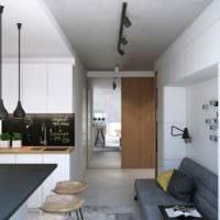 вариант яркого стиля квартиры студии 26 квадратных метров картинка