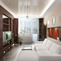 вариант красивого декора гостиной 15 кв.м картинка