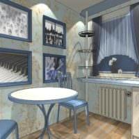 идея светлого дизайна кухни 7 кв.м картинка