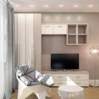 идея необычного интерьера квартиры студии 26 квадратных метров фото