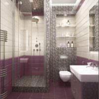 пример необычного интерьера укладки плитки в ванной комнате фото