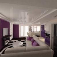 вариант красивого дизайна гостиной спальни фото