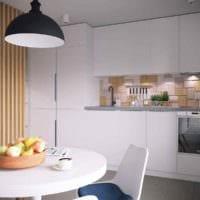 идея необычного дизайна кухни 7 кв.м картинка