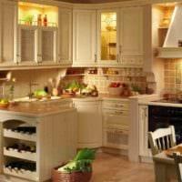 вариант яркого дизайна кухни в деревенском стиле картинка