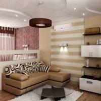 вариант яркого интерьера гостиной спальни фото