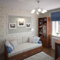 идея красивого декора комнаты 12 кв.м картинка
