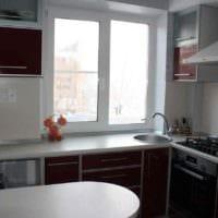 вариант красивого интерьера кухни 10 кв.м. серии п 44 картинка