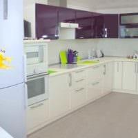 вариант необычного дизайна кухни 11 кв.м картинка