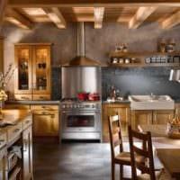 пример необычного дизайна кухни в деревенском стиле картинка