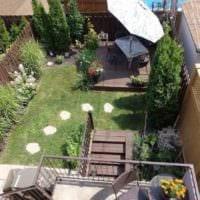 вариант необычного дизайна огорода на даче картинка