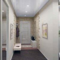 пример яркого дизайна прихожей в частном доме фото
