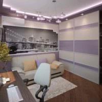пример яркого дизайна комнаты 12 кв.м фото