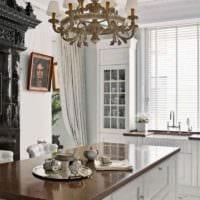 вариант светлого дизайна кухни 12 кв.м картинка