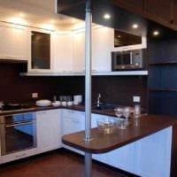 пример необычного декора кухни 13 кв.м фото