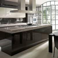 идея необычного дизайна кухни в классическом стиле картинка
