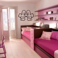 пример красивого стиля детской комнаты для девочки картинка