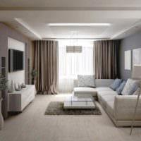 вариант яркого дизайна гостиной 15 кв.м фото