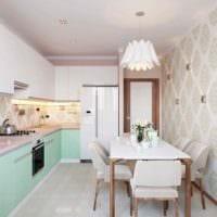 вариант необычного дизайна кухни 7 кв.м фото