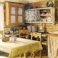 идея необычного стиля кухни в деревенском стиле картинка
