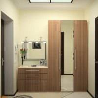 пример яркого стиля прихожей в частном доме картинка