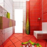 вариант красивого дизайна укладки плитки в ванной комнате картинка