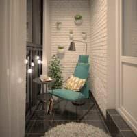 уютный дизайн маленького балкона