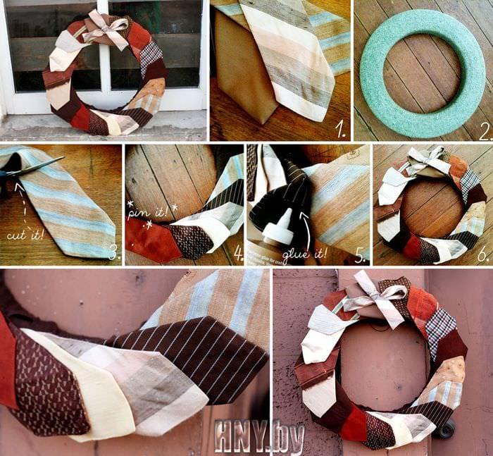 венок из галстуков