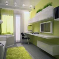 спальня подростка салатовая