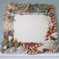 зеркало декор из ракушек