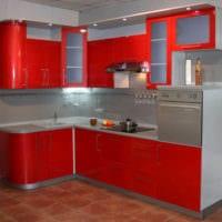 дизайн небольшой угловой кухни