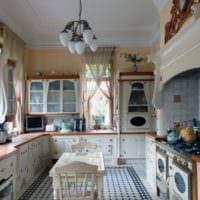 дизайн кухни с окном в стиле прованс