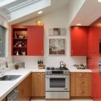 дизайн кухни с окном на потолке