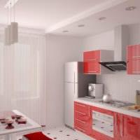 дизайн кухни с окном и балконом
