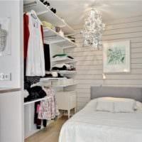 дизайн маленькой спальни с нишей