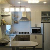 дизайн кухни 6 кв м совмещенной с гостиной