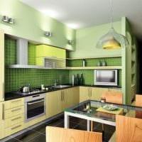дизайн кухни 6 кв м в зеленом цвете