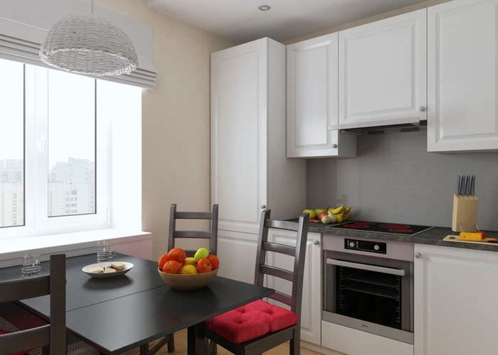 интерьер кухни 6 квадратов