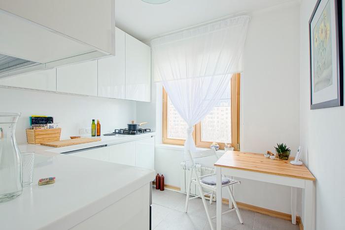 занавески на кухне 6 кв м