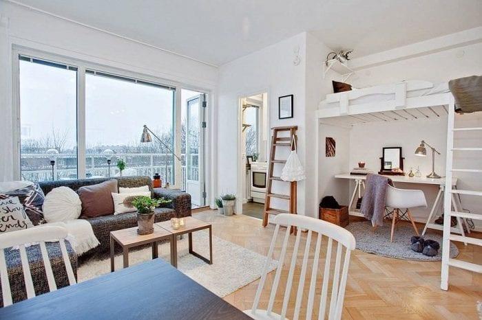 идеи дизайна однокомнатной квартиры