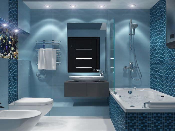 плитка голубого цвета