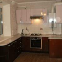 дизайн кухни 6 кв м темный ламинат