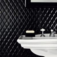 плитка для ванной черного цвета