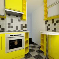 желтые тона в дизайне кухни 6 кв м