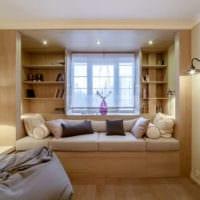 дизайн гостиной спальни с нишей